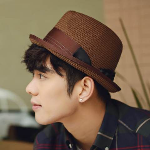 Mens panama hats for summer wear straw hat hatband decoration