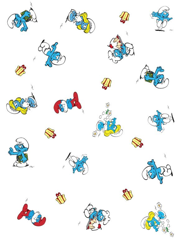 Image Detail For Smurfs Wrapping Paper Smurfs Wrapping