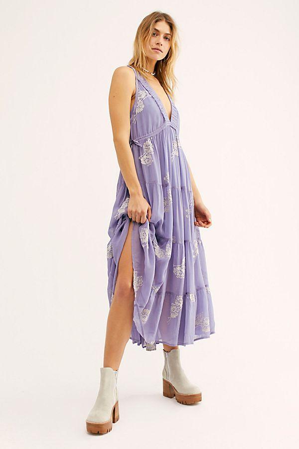 84234657b3f Run Away With Me Embroidered Midi Dress in 2019