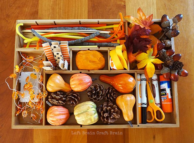 Fall Tinker Tray via @craftbrain