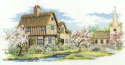 Blossom Lane by Derwentwater Designs (5 of 10), counted cross stitch kit