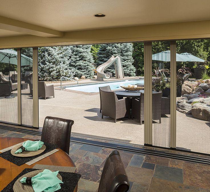 retractable screen patio doors larson storm doors
