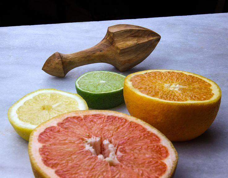 Handcrafted lemon reamer. Citrus, citrus, citrus!