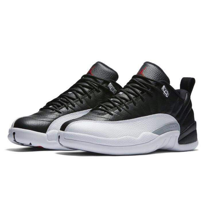 Air Jordan 12 Low Playoffs Release Date. The Playoffs Air Jordan 12  features a Black tumbled leather upper with Red and White detailing for  Spring