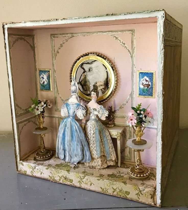Miniature Children S Bedroom Room Box Diorama: RARE Miniature Diorama Narcissa Ward Thorne 1941 Eugene