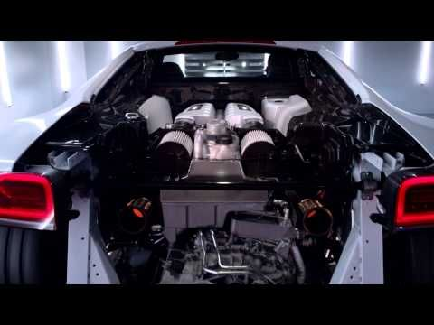 Cool marketing video from Audi of a stripped down Audi R8 V10 Plus kicking out 550hp and 398 lb-ft torque from its 5.2-liter FSI engine