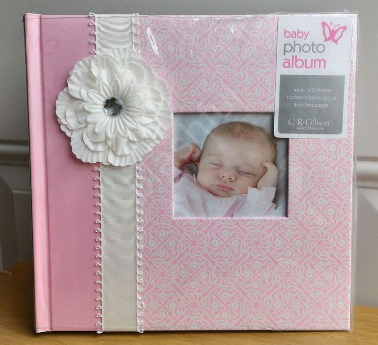 NEW CR Gibson BELLA Baby Girl Pink Floral Large Photo Album Holds 200 4x6 Pic…