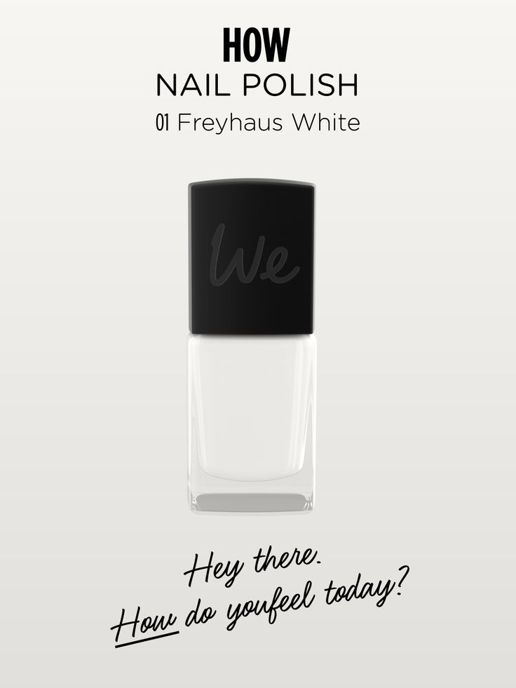 HOW | Nail Polish in Freyhaus White  Discover more on http://wemakeup.it/#HOW_nail_polish