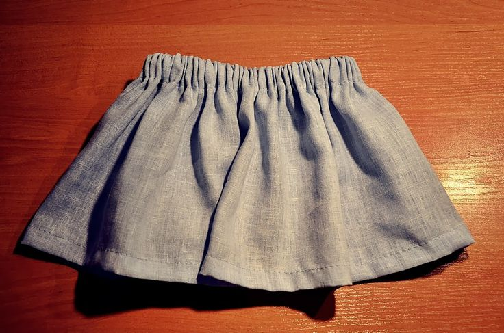sewed skirt for little kid