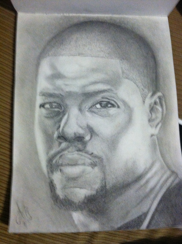 My Drawing Of Kevin Hart Drawings Sketches Kevin Hart