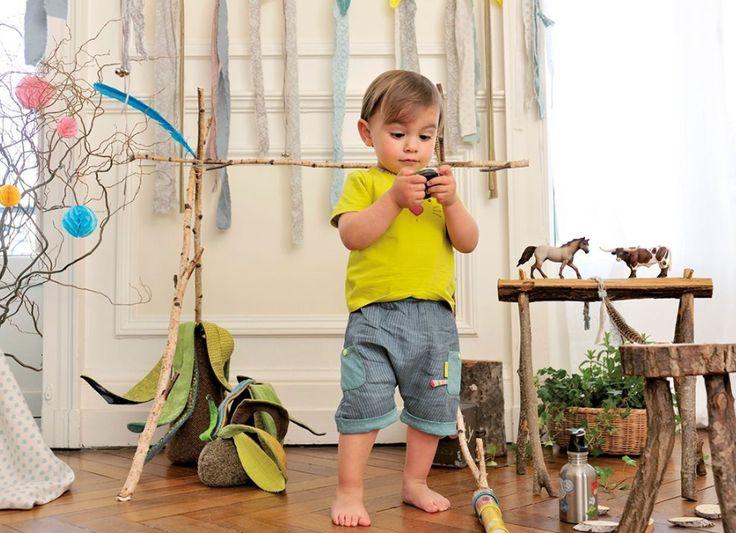 Les petits habits moulin roty, mode enfant Printemps été 2015, made in france, jeu, animaux, fleurs, plantes