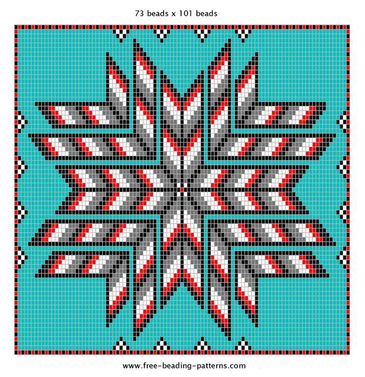 Free Native American Beadwork Patterns | Native American Beading Pattern | 2 Feathers Trading Post