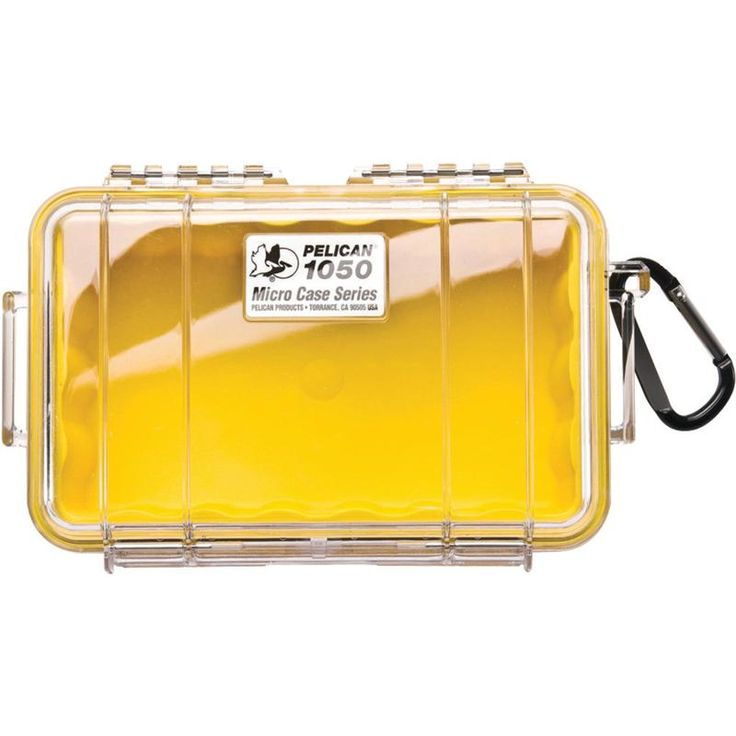 Pelican 1050 Micro Case (yellow And Clear)