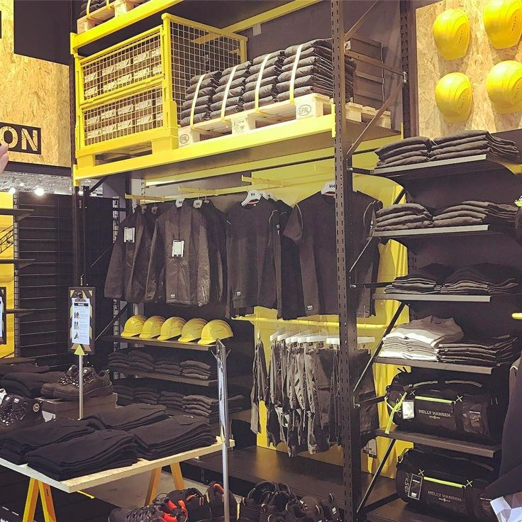 Who ever said #workwear needs to be sold as such! #visualmerchandising #retaildesign #storedisplay #storedesign #euroshop2017