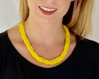 Trenzadas a mano del collar/de cuentas por CreativeBeads4U en Etsy