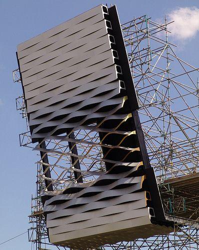 Project Exhibition Center Basel 2012, Metal Cladding, Mock-Up 2008.  Architects: Herzog & de Meuron.