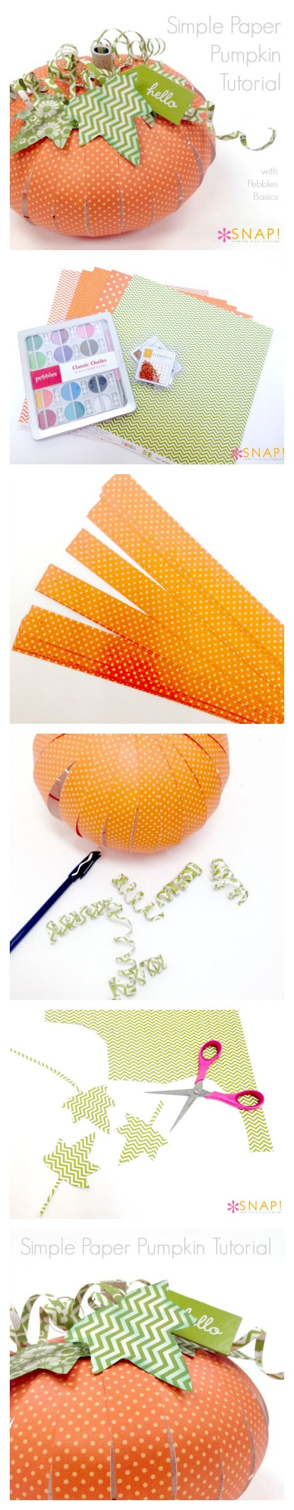 How to make a simple paper pumpkin - great for decor or a table placecard