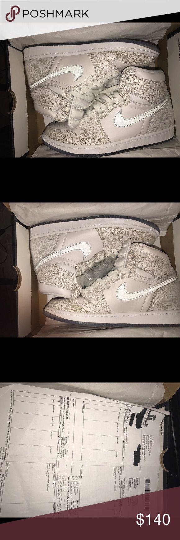 Air jordan 1 laser Used only warn 2 times condition 9/10 Jordan Shoes Sneakers