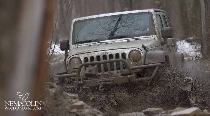Let's get Muddy! @Jeep Off-Road Driving Academy is offered at Nemacolin year-round.