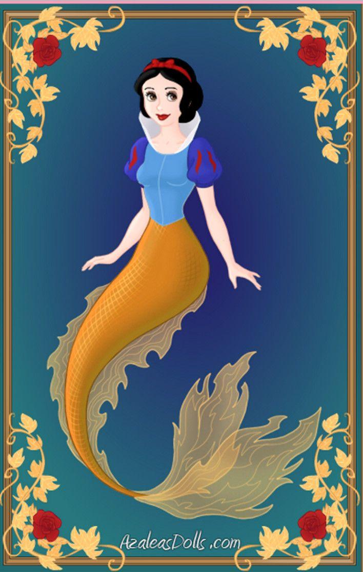 Disney Snow White   Snow White- Disney Mermaids by WolfsGesang