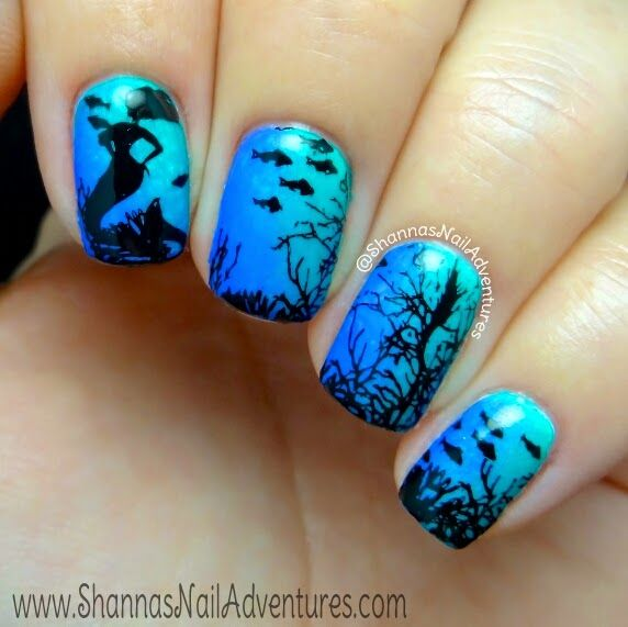 Shanna's Nail Adventures: Under the Sea manicure using Bundle Monster Sun Kissed Collection and Swatches of 10 plates