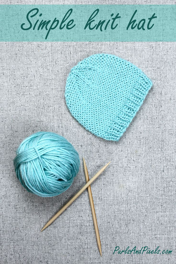 Basic Knit Hat Diy Gift Ideas Baby Hats Knitting Baby