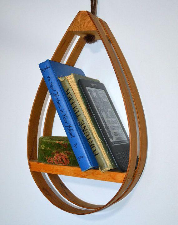 Bowed Bough… Vintage 60's Mid Century Bent Wood Danish Modern Hanging Shelf