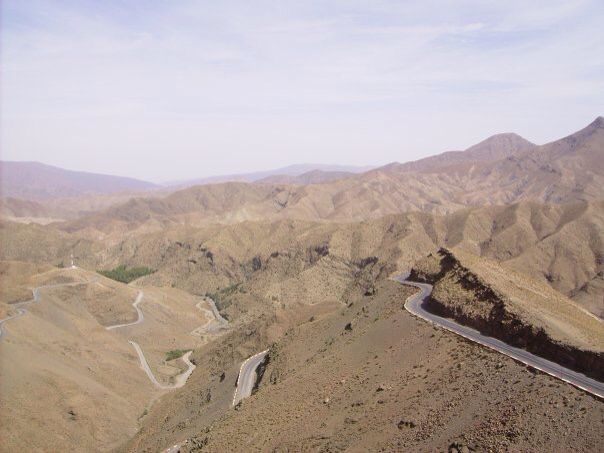 One crazy road, Atlas Mountains, Morrocco