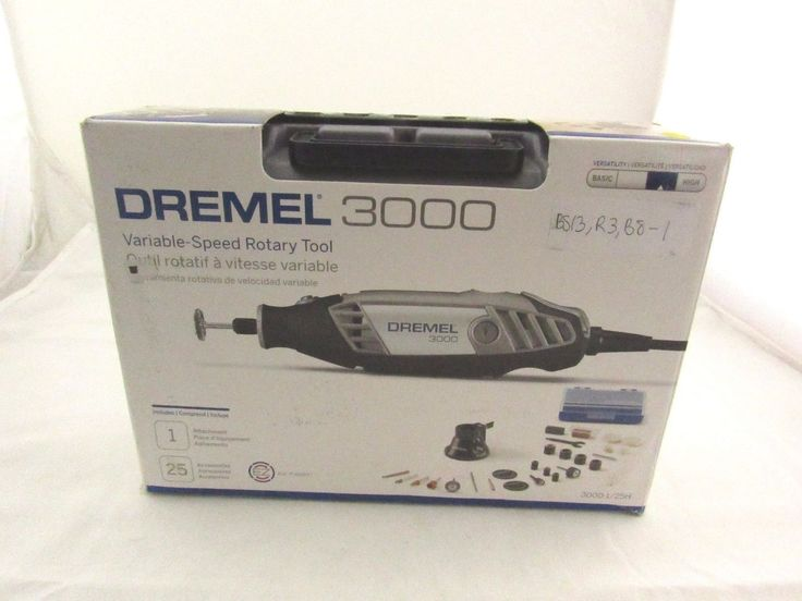 Rotary Tool Dremel 3000-1/25H Corded Polishing Variable Speed 28 piece Kit Case