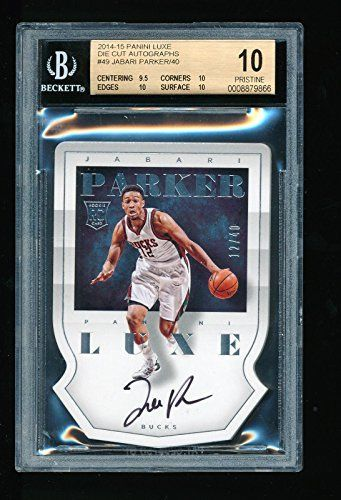 Jabari Parker Autographed Jersey - 1 1 Bgs 10 2014 15 Panini Luxe Die Cut Rc Number 12 40 - Panini Certified * Find out more about the great product at the image link.