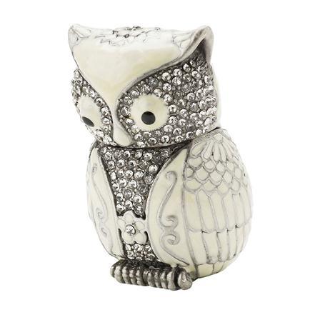Lisbeth Dahl owl with Crystals Trinket Box