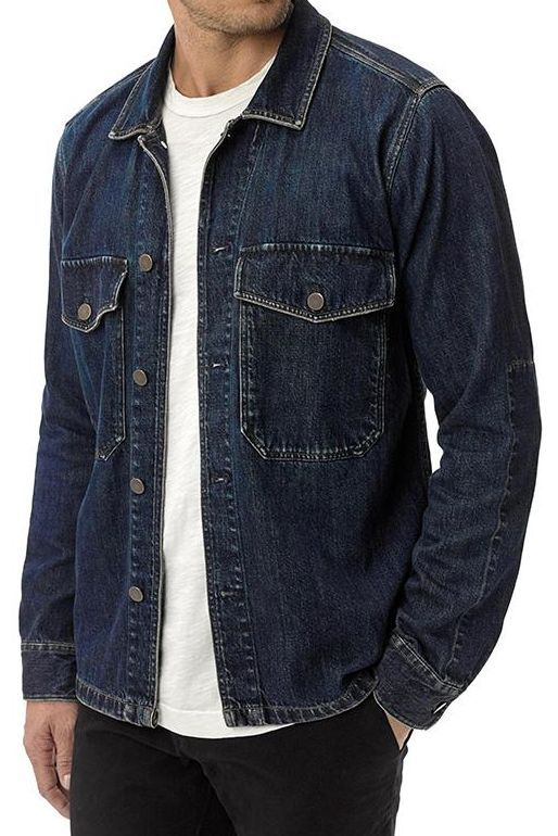 64e6017a4 Washed Indigo Denim Two Pocket Field Shirt – Buck Mason The sweet spot  between a denim trucker and military issue transit jacket.