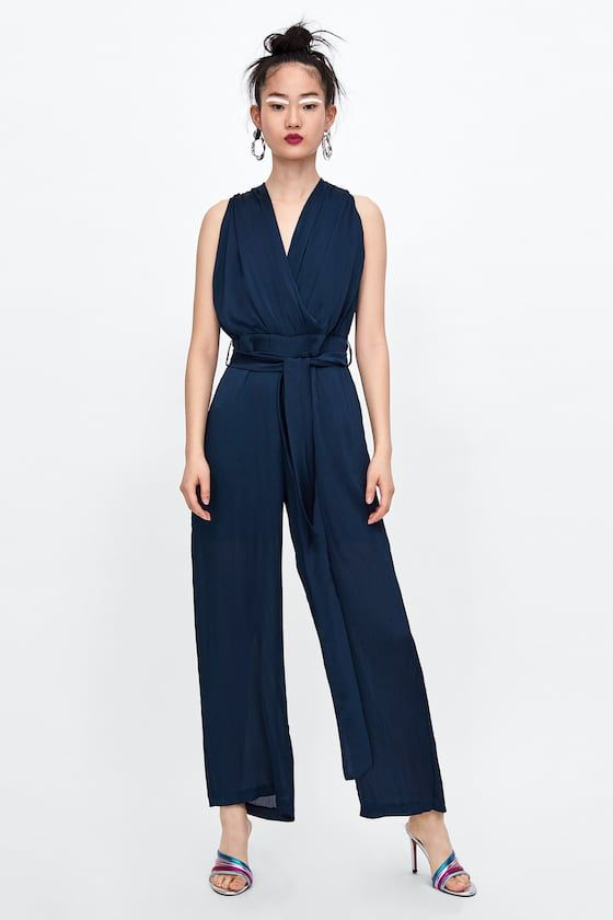 821780e4b0c3 Image 1 of MIXED LACE JUMPSUIT from Zara
