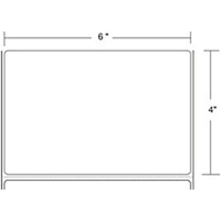 Zebra Label Paper 6 x 4in Thermal Transfer Zebra Z-Select 4000T 3 in core - 6 Width x 4 Length - 2 / Roll - 1410/Roll - 3 Core - Paper, Acrylic - Thermal Transfer - White