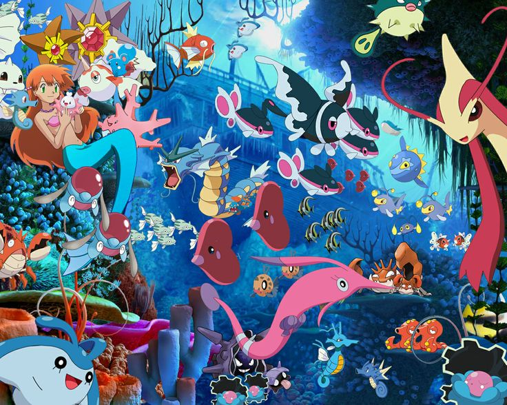 Water type pokemons water type pokemons pinterest for All types of water