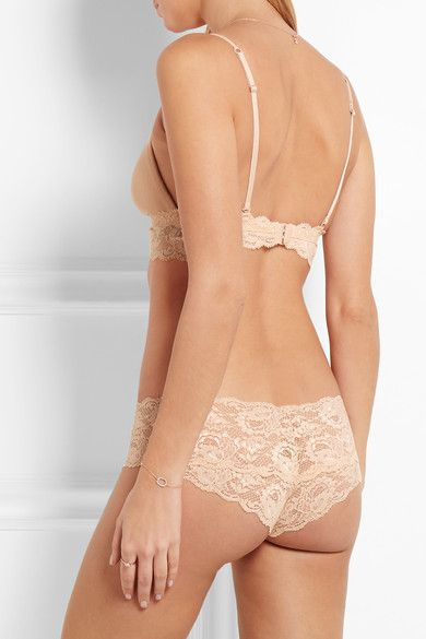 Cosabella - Never Say Never Soire Lace-trimmed Mesh Soft-cup Bra - Neutral - medium