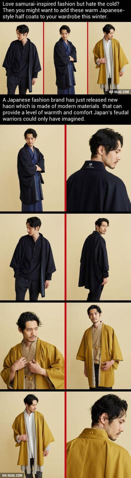 Japanese-style haori half coats make your samurai dream come true