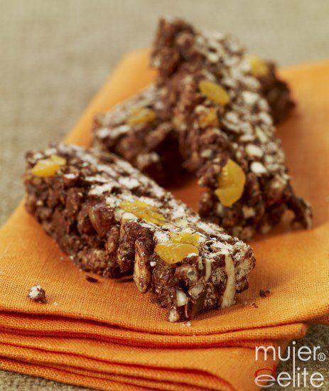 Barritas de cereales con chocolate ¡qué buenas!