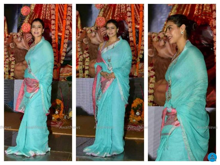 Kajol Serves Bhog To All The Devotees Of Maa Durga Photos