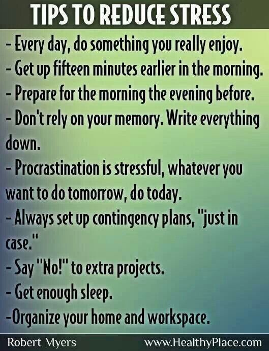 Useful tips to reduce stress!