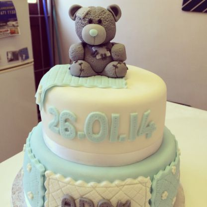 A Tatty Teddy Cake I made for a christening. Chocolate of course! X