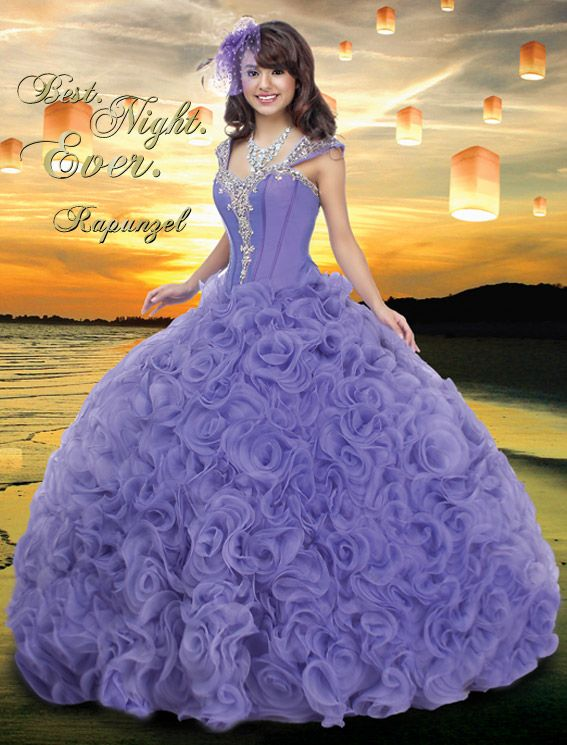 Our Rapunzel Gown 41009 Disney Royal Ball Quinceanera. #Rapunzel #41009 #Disney #Quinceanera