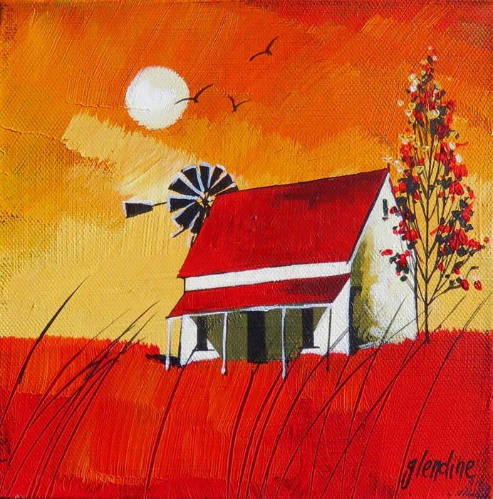 Autumn Sunset by Glendine