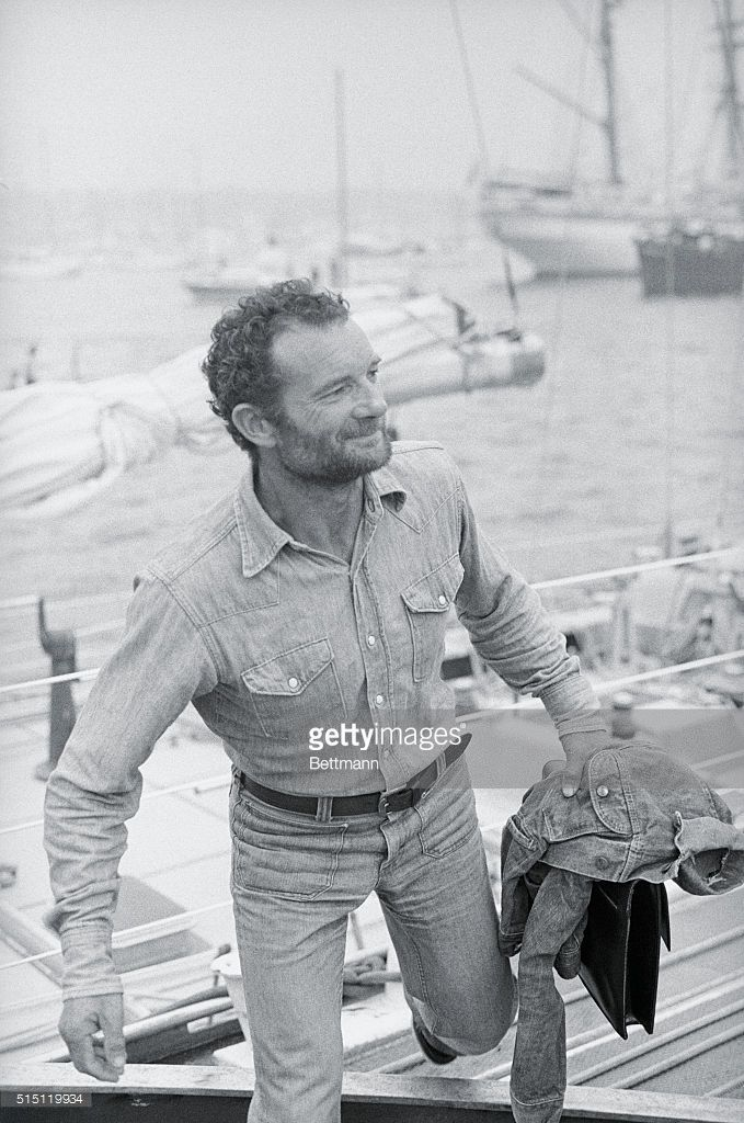 Photo d'actualité : Eric Tabarly of France smiles as he leaves his...