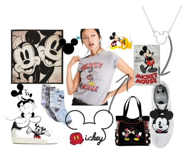 """mickey"" by joanna-swierczek on Polyvore featuring moda, Disney, MOA Master of Arts, American Eagle Outfitters i The Bradford Exchange"
