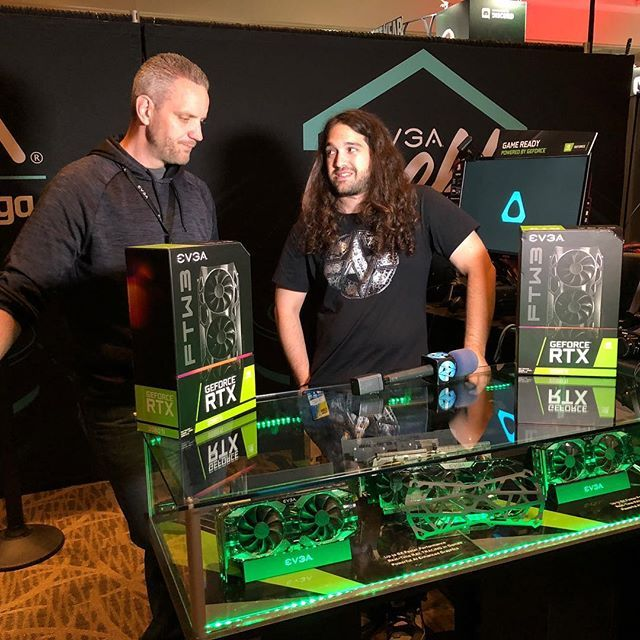 gamersnexus Steve and @jayztwocents stopped by the EVGA