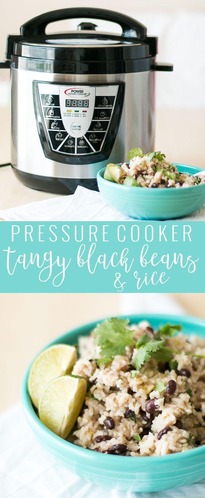 Pressure Cooker Black Beans and Rice   how to make black beans in a pressure cooker   pressure cooker rice recipes   pressure cooker side dishes   homemade rice and beans recipe   how to make rice and beans   easy side dish recipes   recipes using rice an
