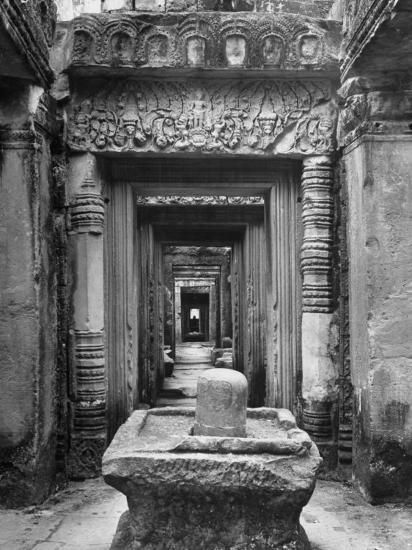 Linga, Siva's Symbol at Angkor Wat, the Great Ancient Buddhist Temple of the Khmers Photographic Print
