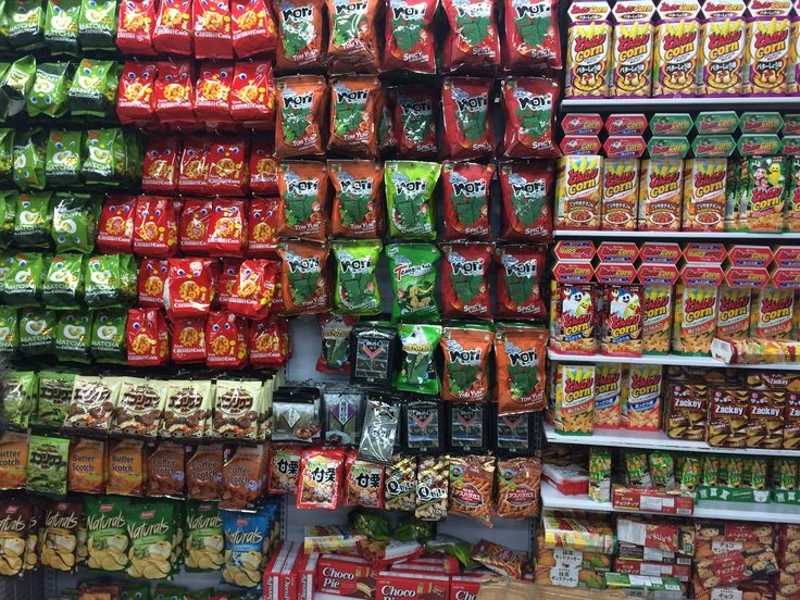 I don't know about you but this wall of Japanese snacks fascinates me!