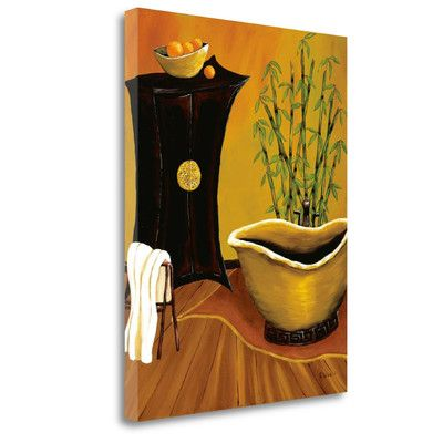 Tangletown Fine Art 'Asian Bath' by Krista Sewell Graphic Art on Wrapped Canvas